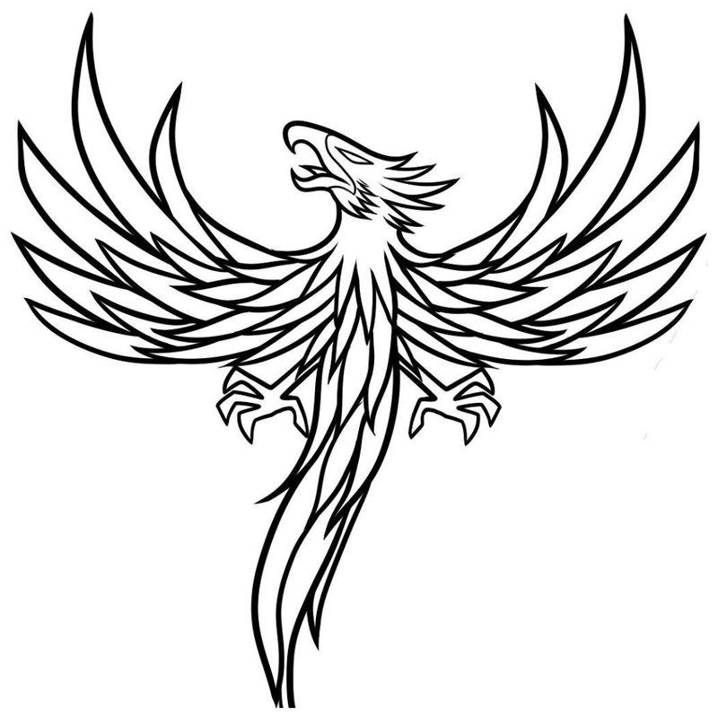 Mistinis gyvūnas - tatuiruotės eskizas