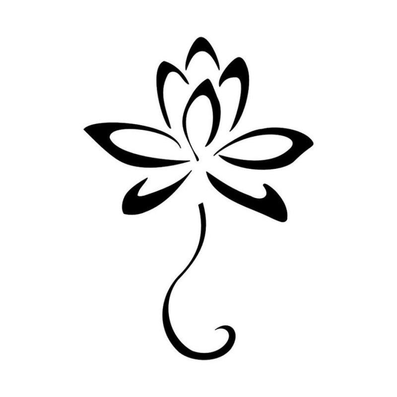Subtili gėlė - tatuiruotės eskizas