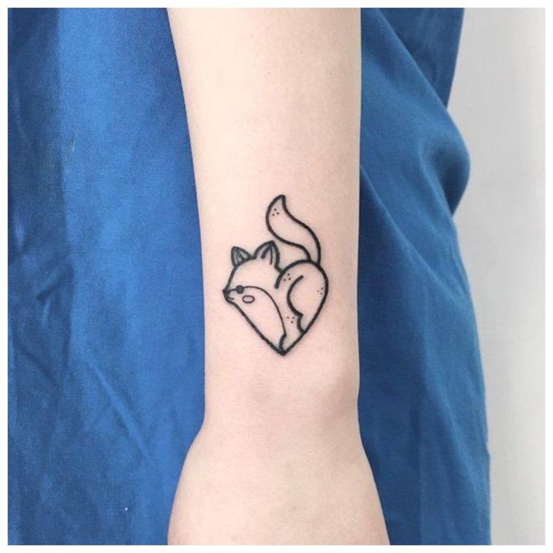 Originalus kačiukas - tatuiruotės eskizas