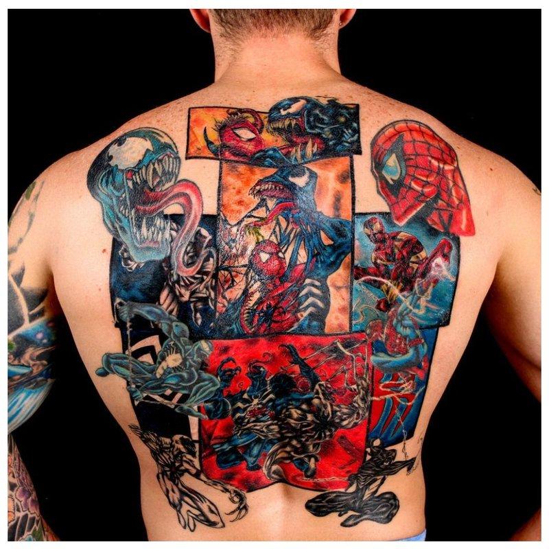 Visas nugaros spalvos tatuiruotė