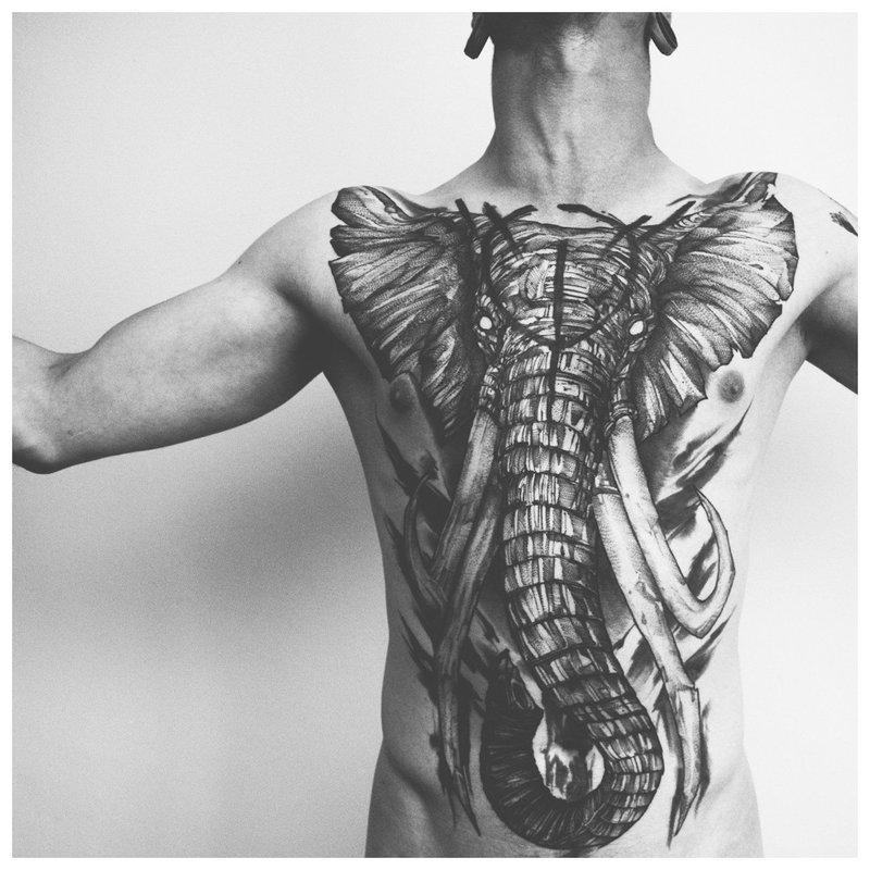 Dramblio tatuiruotė