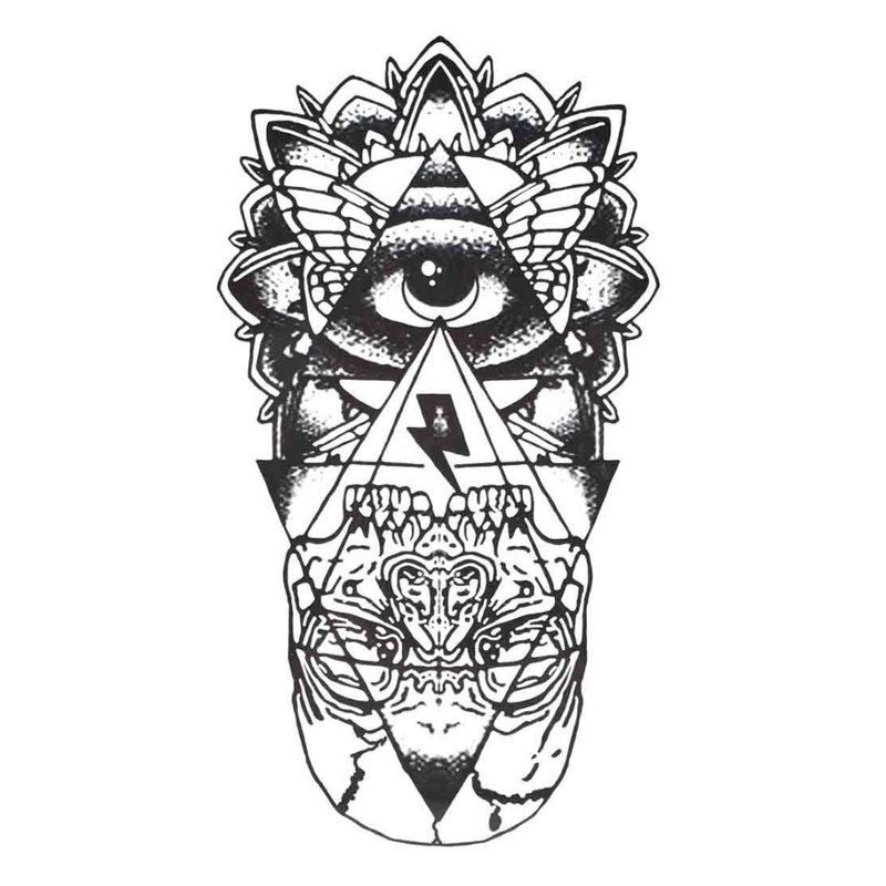 Tatuiruotės eskizas akimi.