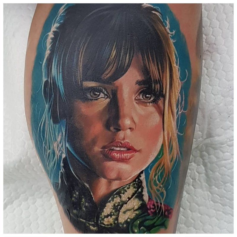Portrait de tatouage réaliste