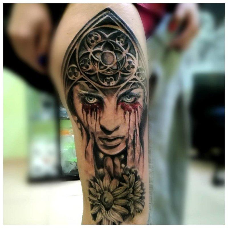 Gotische Tattoo