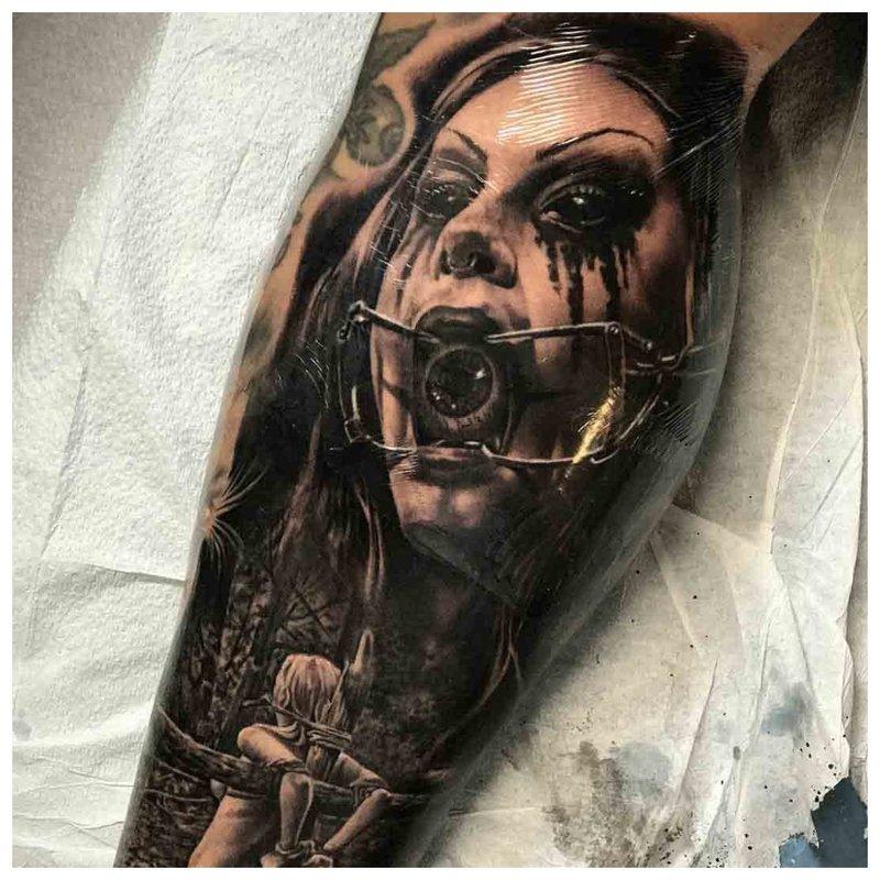 Tatouage d'horreur