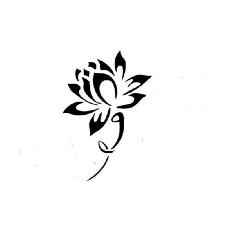 Tatuiruotės eskizas - gėlė