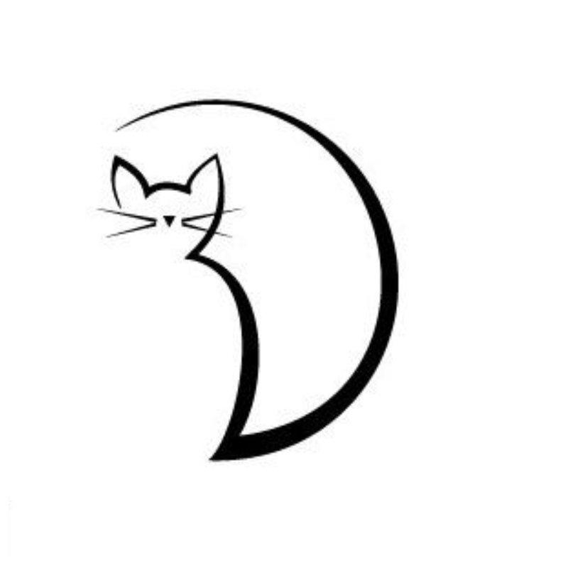 Kitty - tatuiruotės eskizas