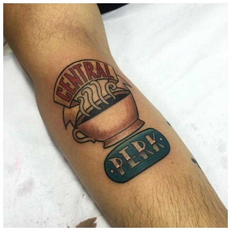 Tatuiruotė ant vyro rankos