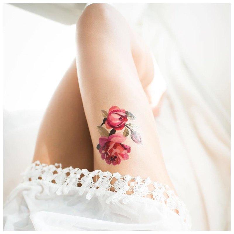 Akvarelės tatuiruotės stilius