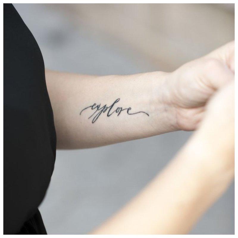 Naršykite tatuiruotės užrašą