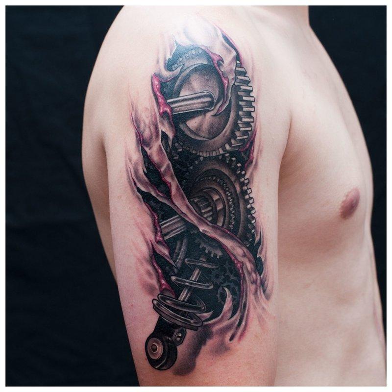 Tatuiruotės biomechanika ant peties