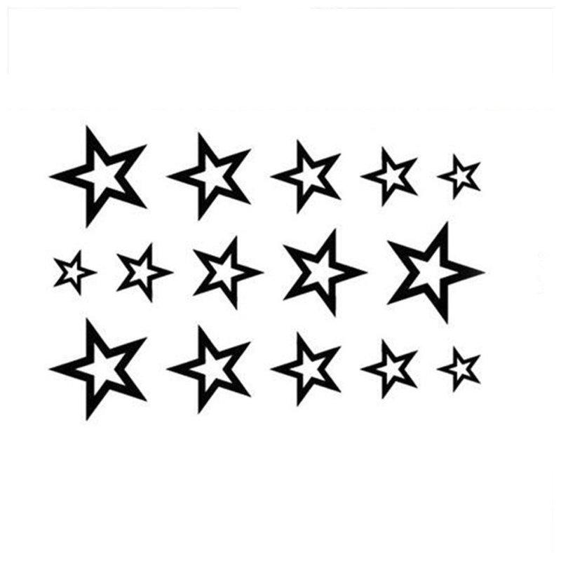 Žvaigždės - tatuiruotės eskizas