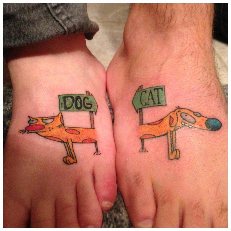 Suporuotas gyvūnų tatuiruotė