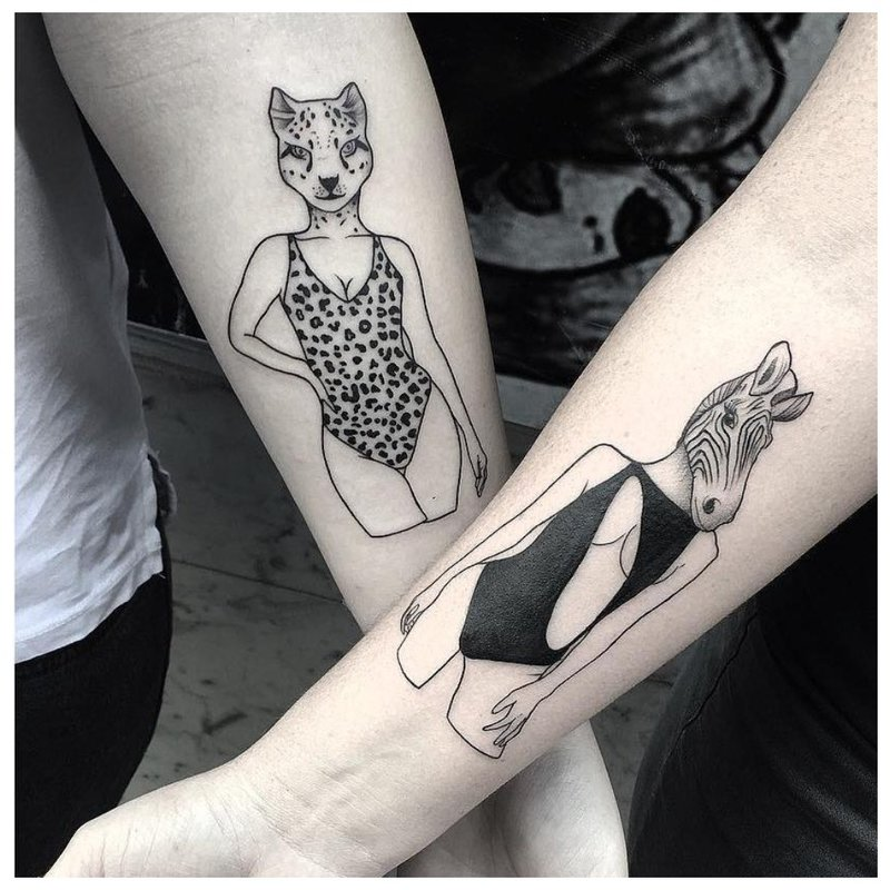 Gyvūnų tatuiruotė mėgėjams