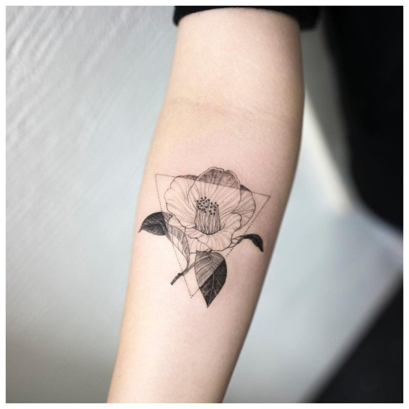 Minimalistinė gėlė su trikampiu
