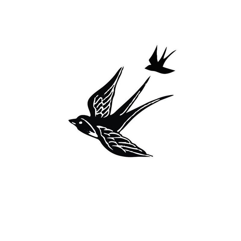 Paukščių eskizas mini tatuiruotei