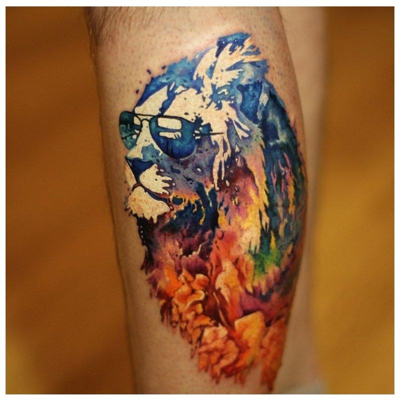 Akvarelės liūtas