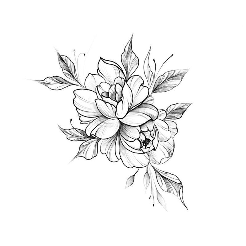 Gėlių eskizai