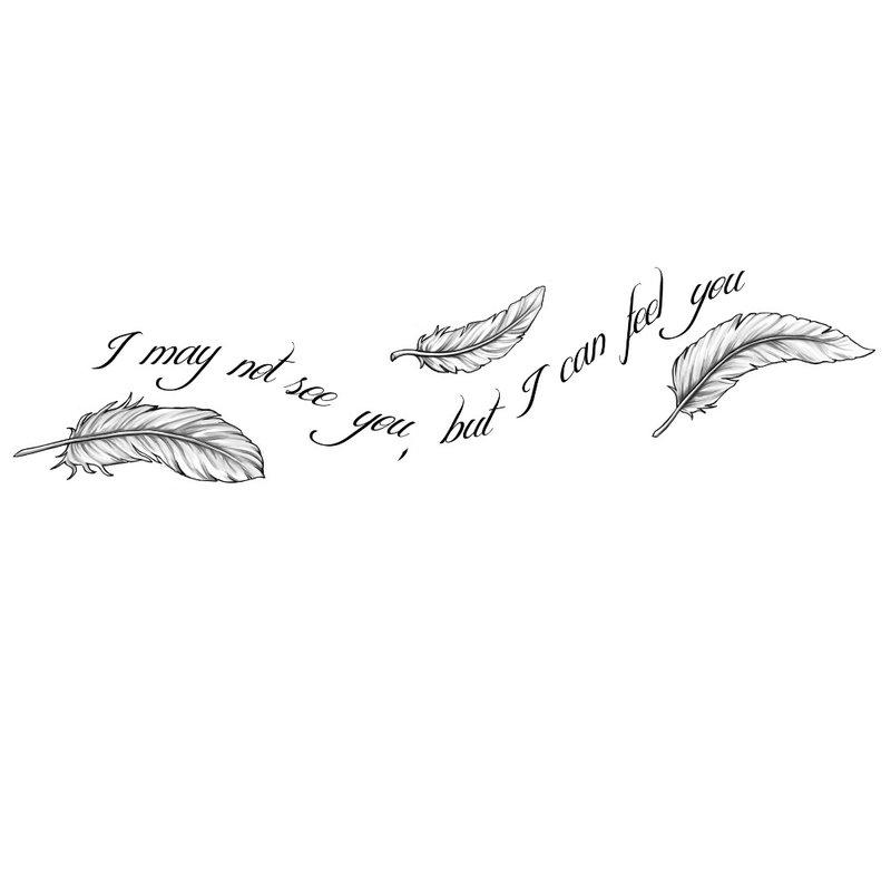 Tatuiruotės eskizas.Aš tavęs nematau, bet jaučiu tave.