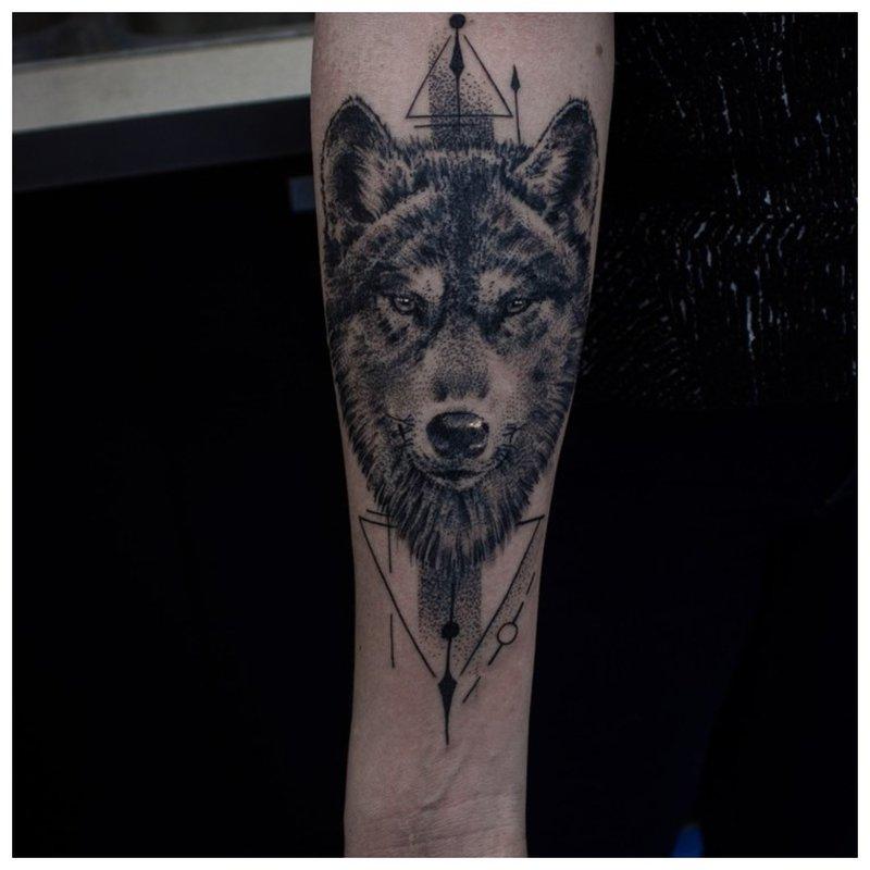 Severe Wolf Muzzle - Arm Tattoo