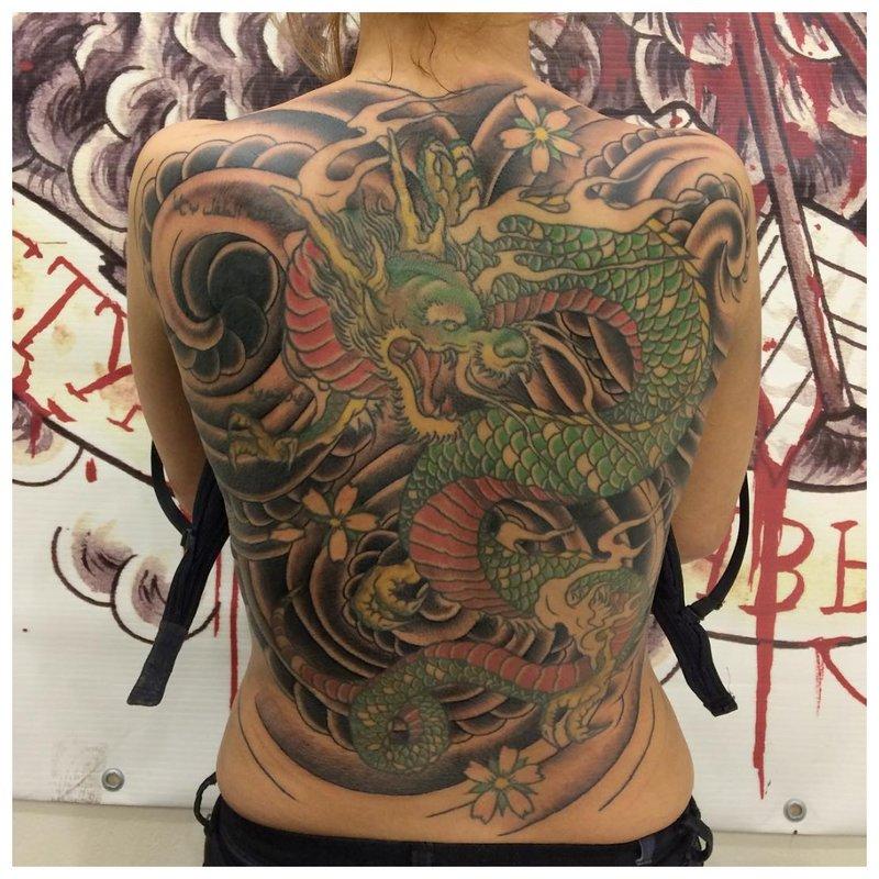 Technique de tatouage oriental
