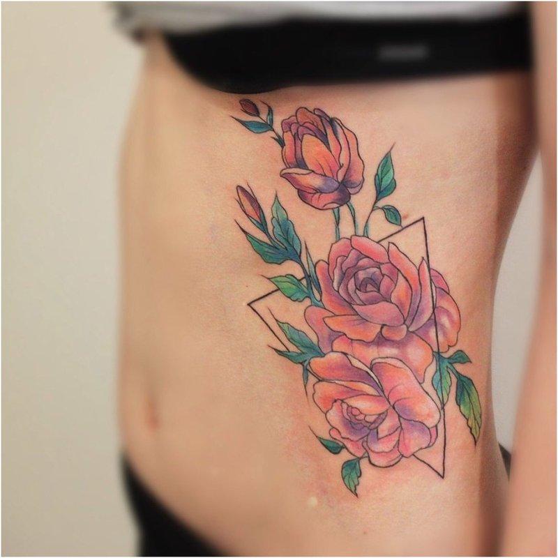 Rožės ant šonkaulių