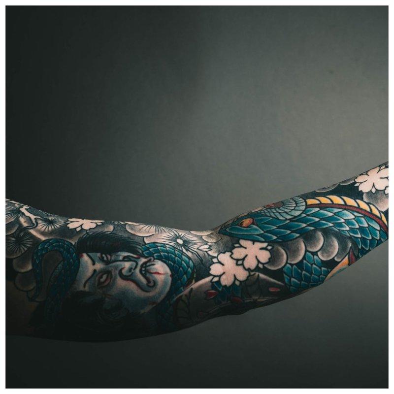 Japoniška tatuiruotė ant rankos