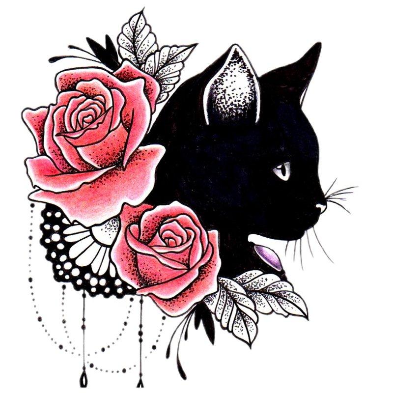 Gėlių ir gyvuliškumo tatuiruotės tema