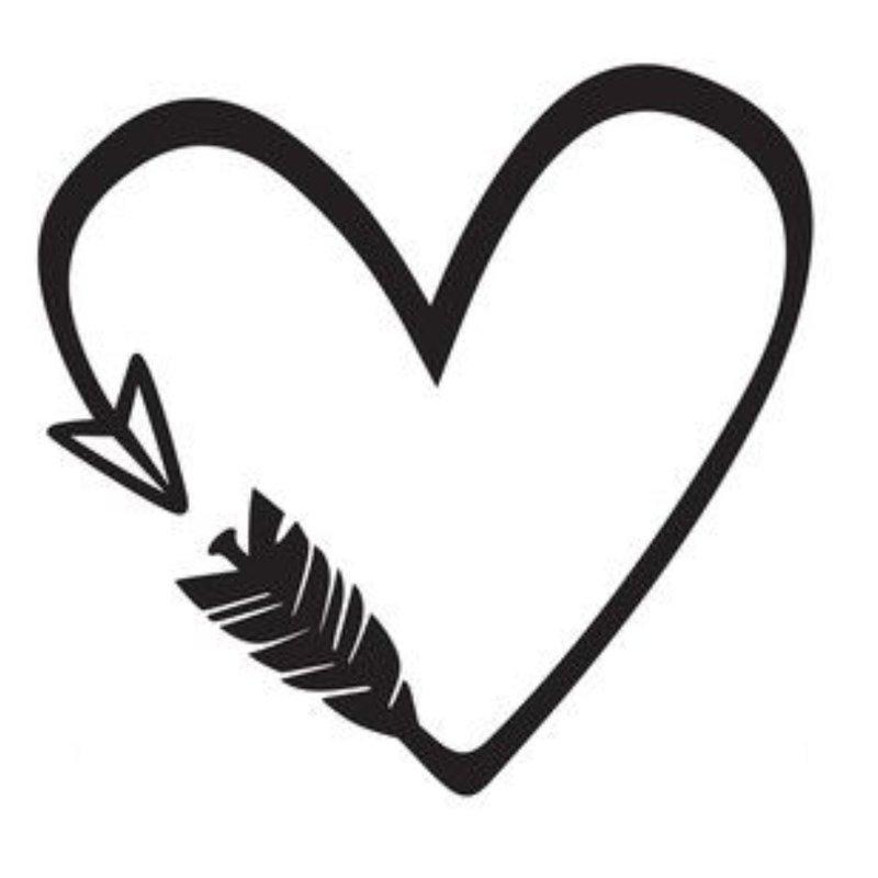 Širdies - tatuiruotės eskizas