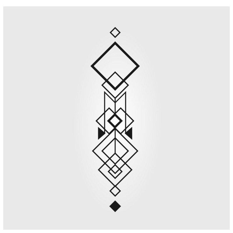 Geometrinis tatuiruotės eskizas