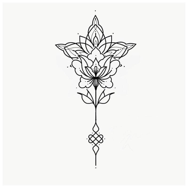 Mehendi tatuiruotės eskizas