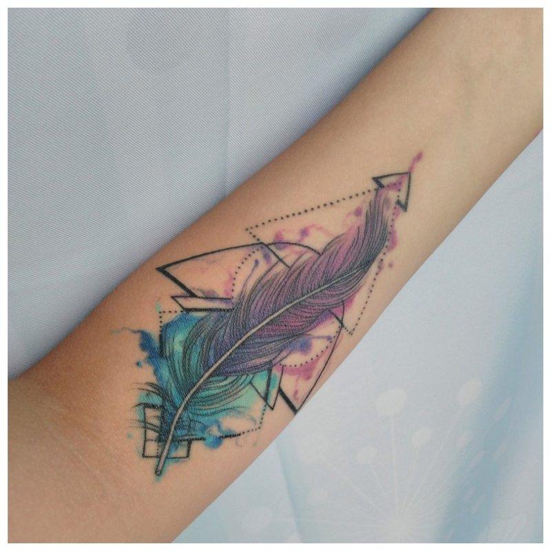 Akvarelės tatuiruočių rašiklis
