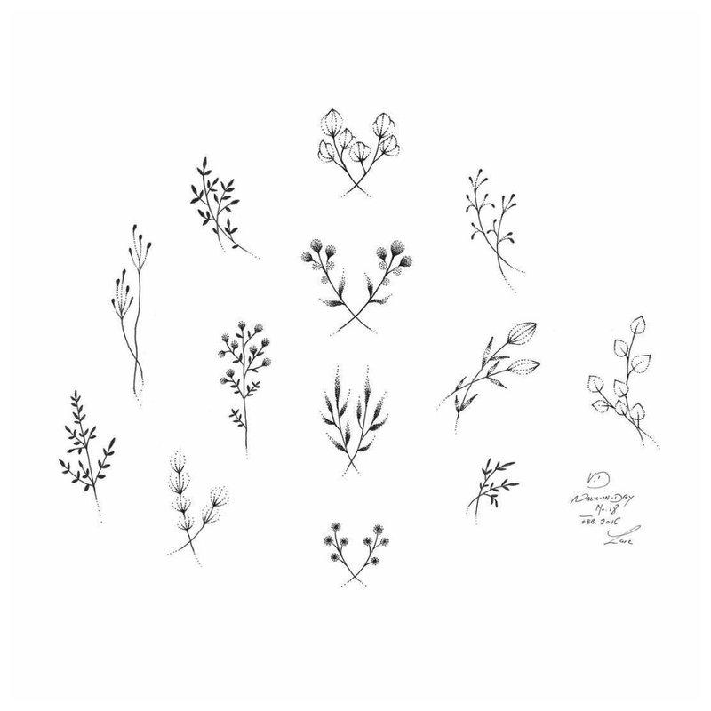 Gėlių tema tatuiruočių dizainui