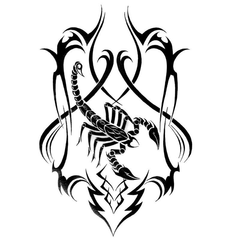Skorpiono tatuiruotės eskizas