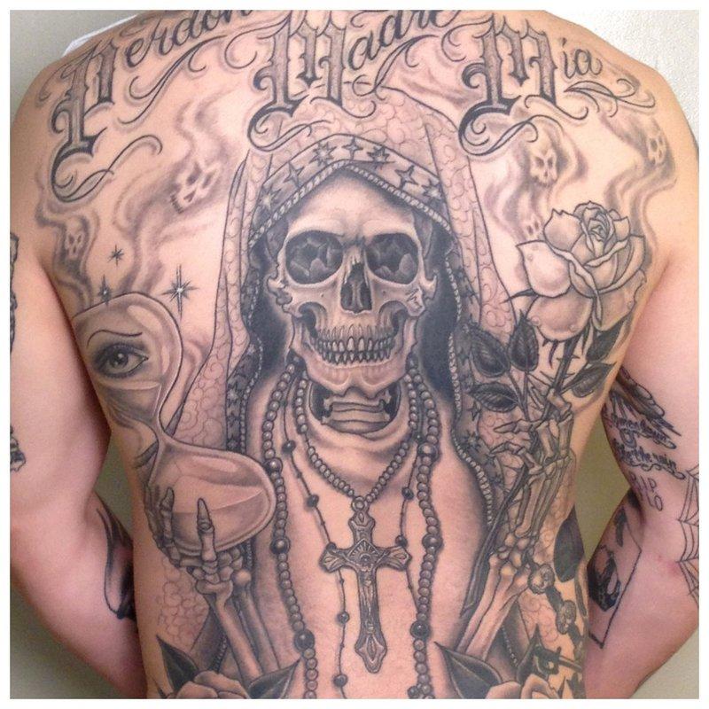 Chicano Tattoo All Back