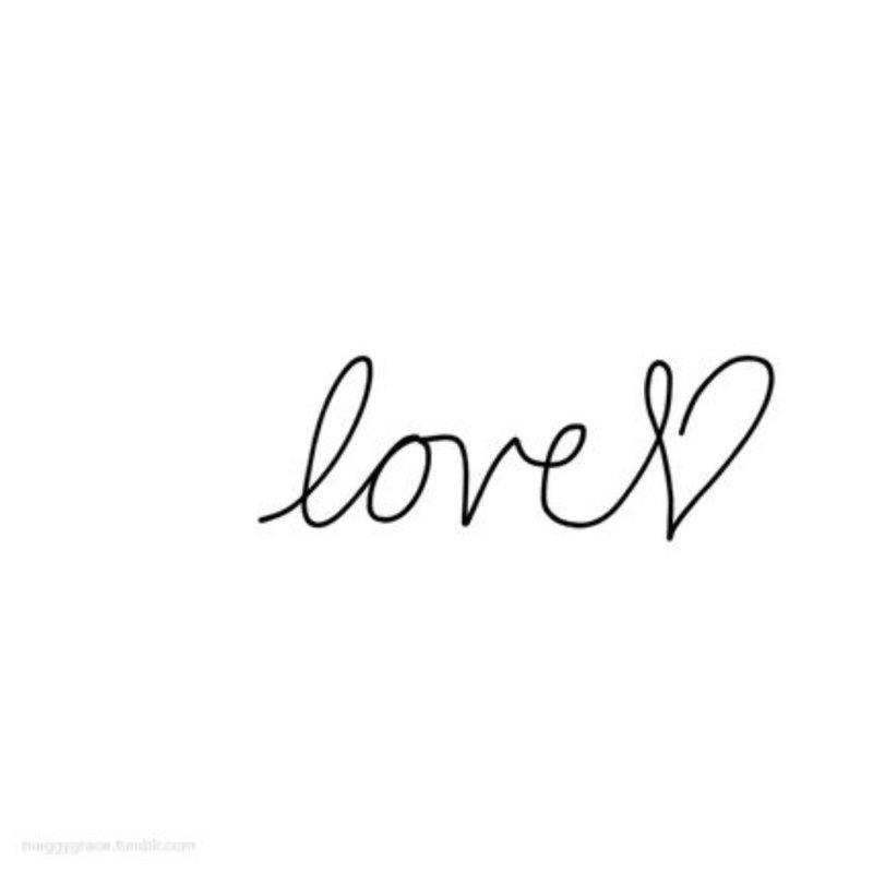 Meilė - užrašas tatuiruotei