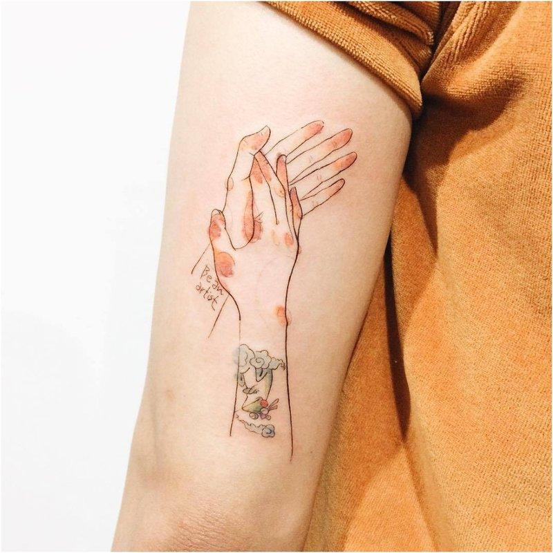 Akvarelės tatuiruotė