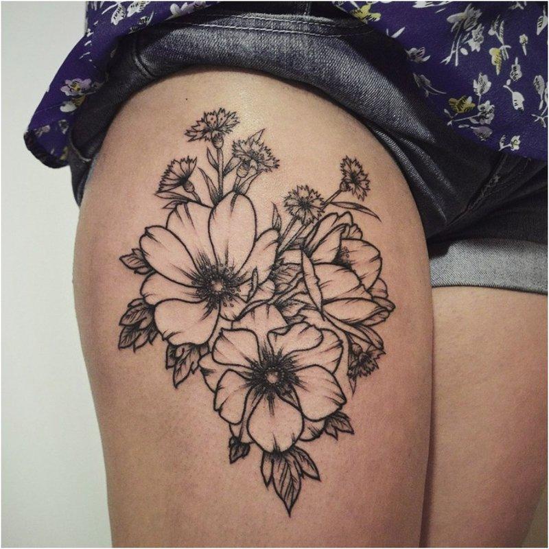 Juodo ir balto klubo tatuiruotė