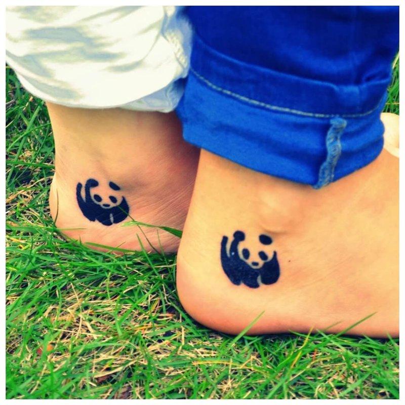 Panda - originali tatuiruotė