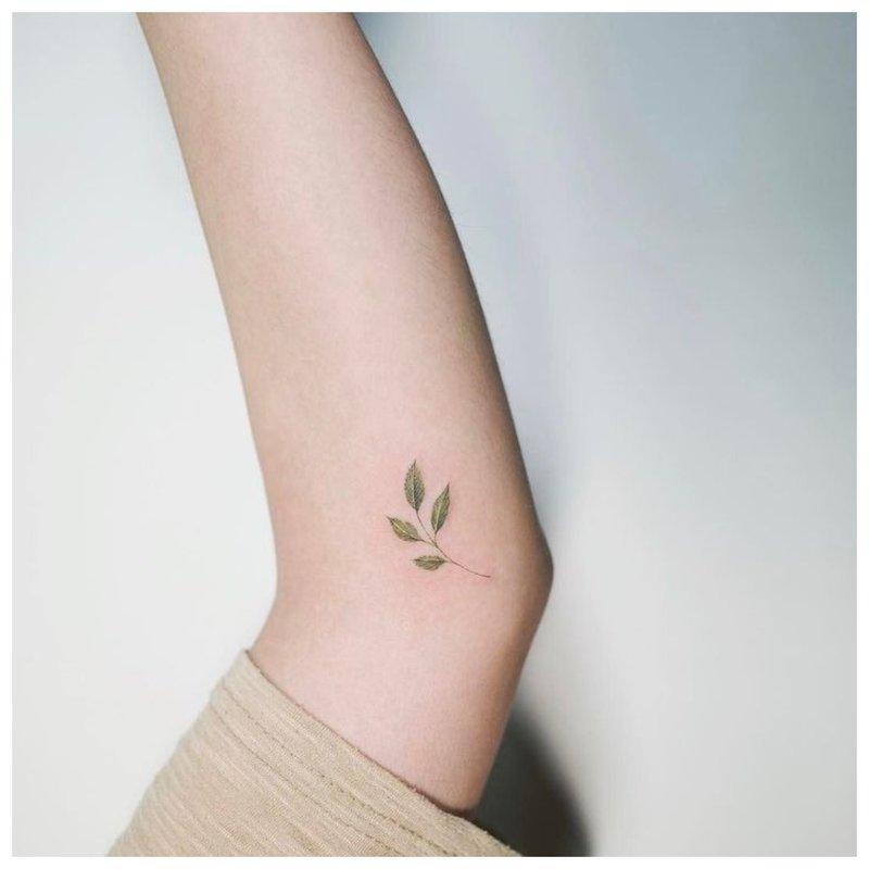 Mini tatuiruotė ant alkūnės