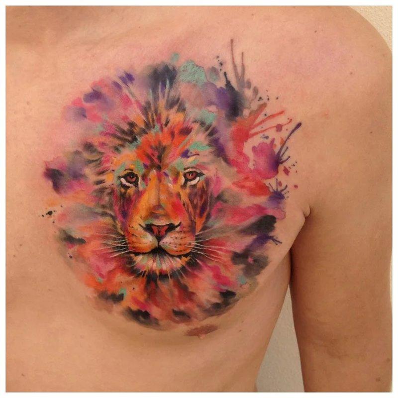 Tigras akvarelės technikoje