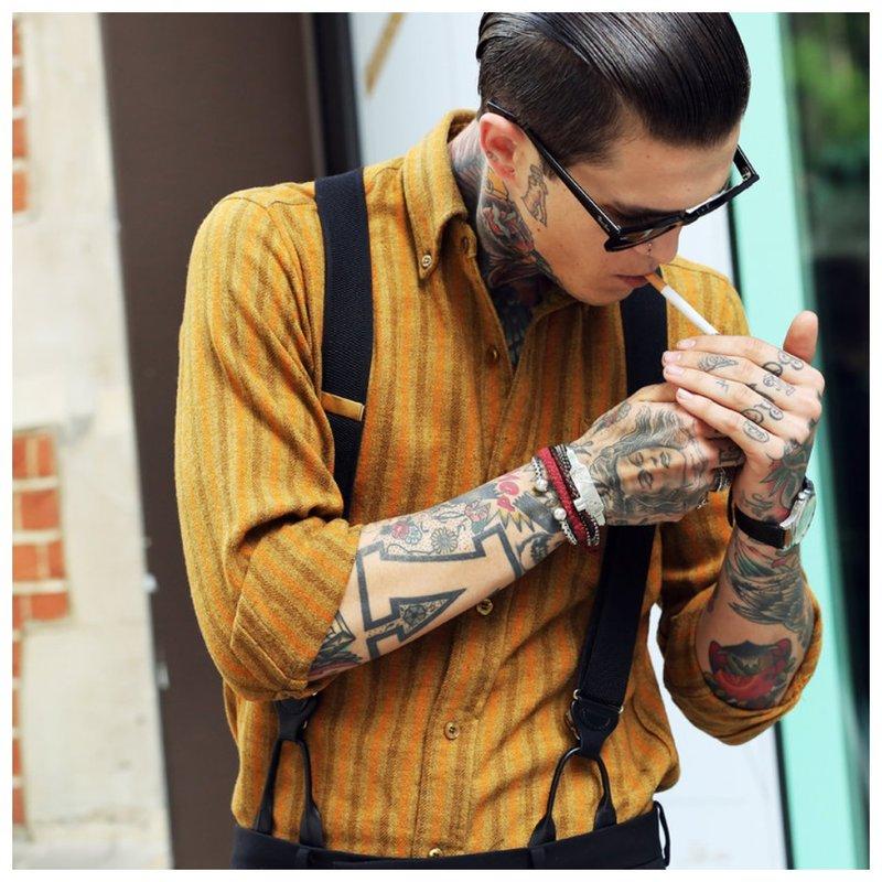Tatuiruočių rankovės ir delnai