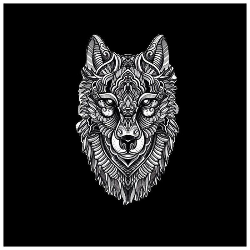 Vilko tatuiruotės eskizas