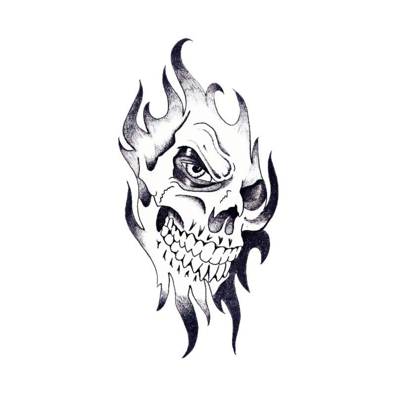Kaukolė - tatuiruotės eskizas