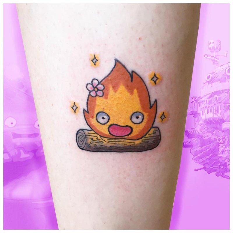 Ugnies riešo tatuiruotė