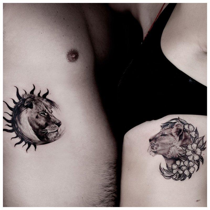 Animalistinė dvigubos tatuiruotės tema