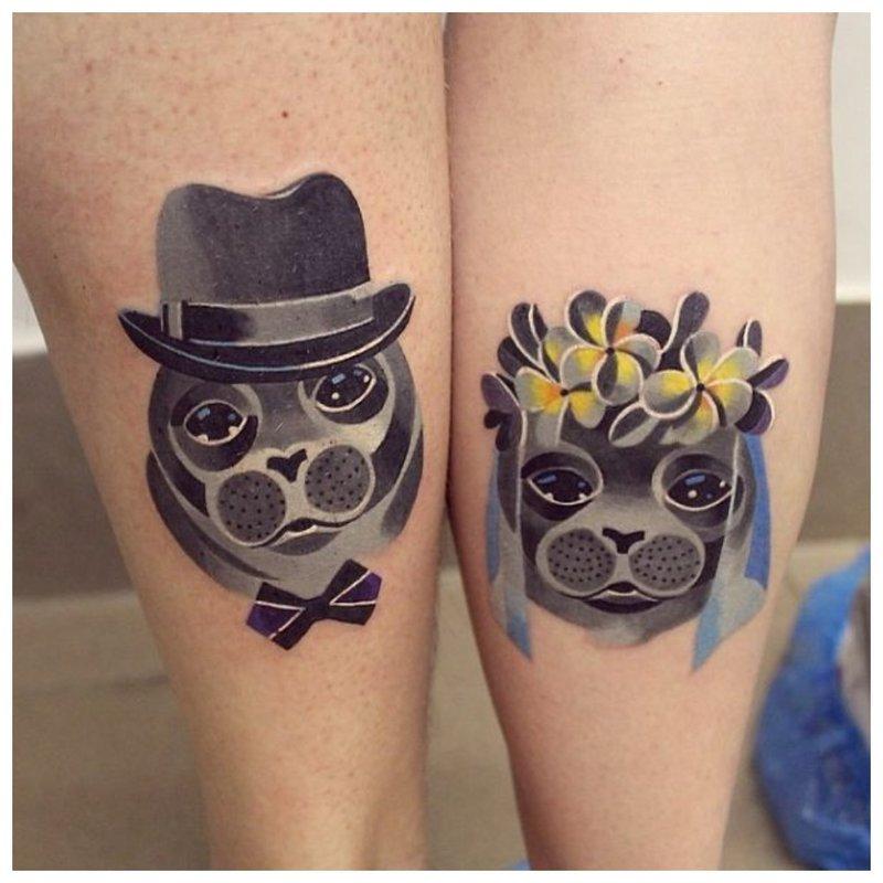 Animalistinė dviguba tatuiruotė mėgėjams