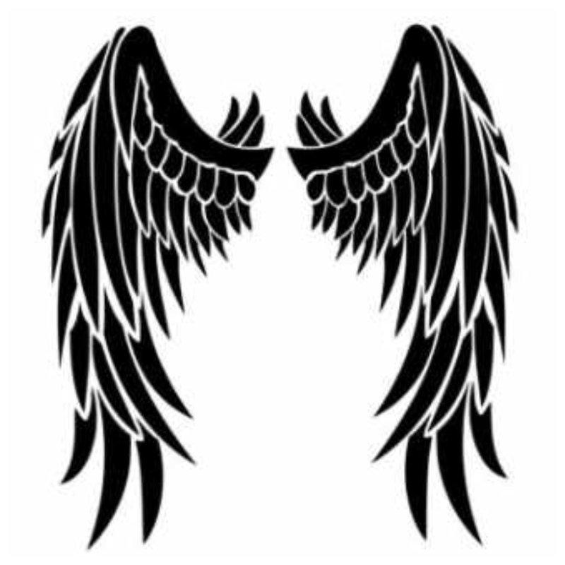 Angelo sparnai - tatuiruotės eskizas