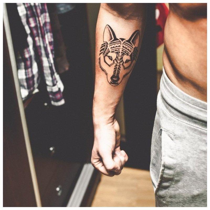 Gyvūno rankos tatuiruotė