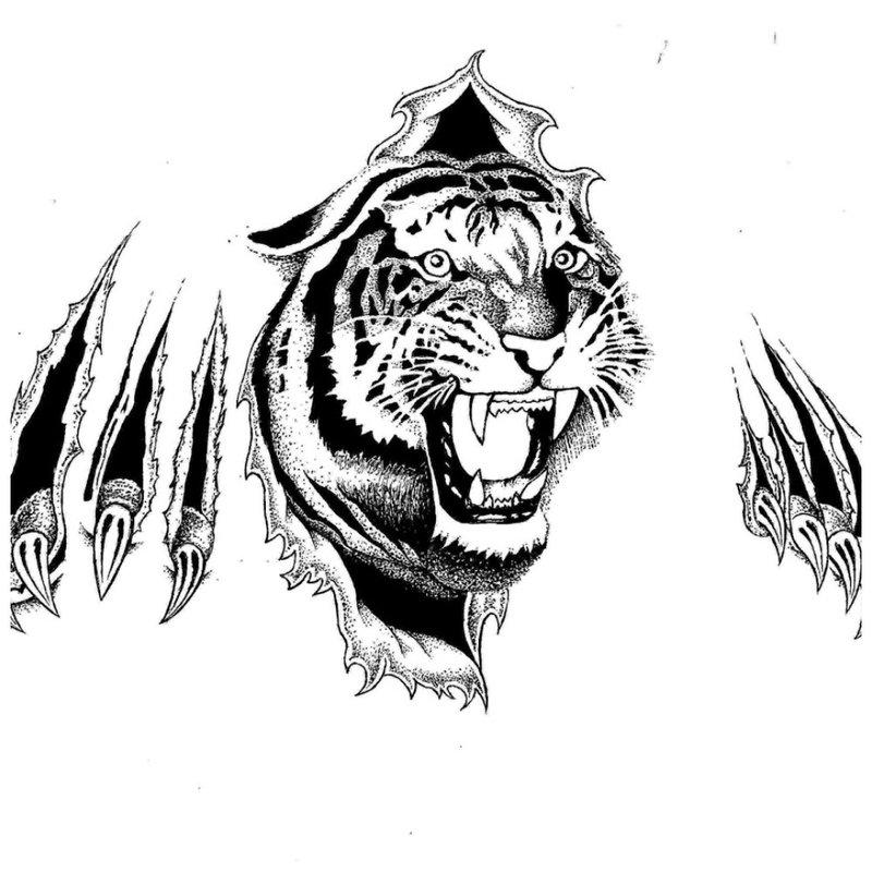 Gyvūnų tatuiruotės eskizas